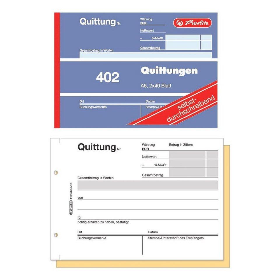 Herlitz Formularbuch »Quittung inkl. MwSt.«