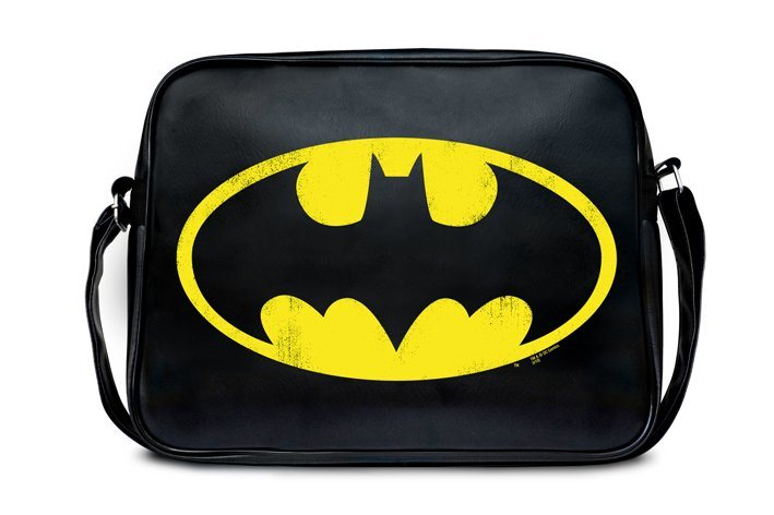 Damen LOGOSHIRT Umängetasche im Batman Logo-Design schwarz | 04045846331259