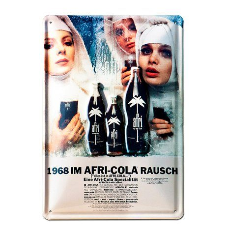 LOGOSHIRT Retro-Blechschild mit Afri-Cola Nonnen