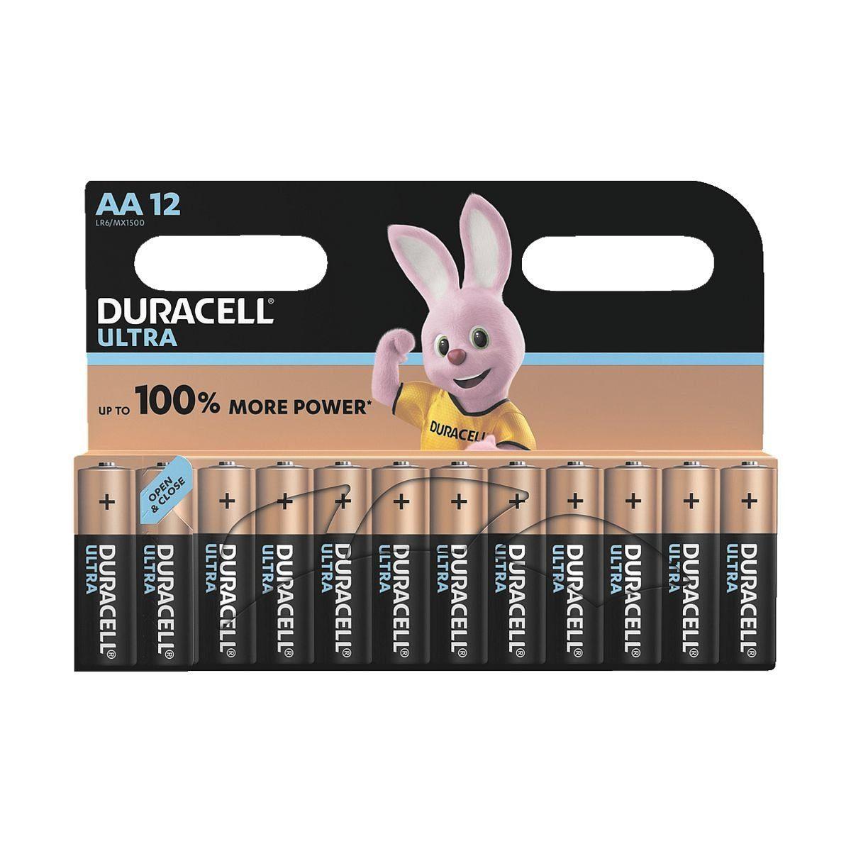 Duracell 12er-Pack Batterien »Ultra M3« Mignon / AA / LR06