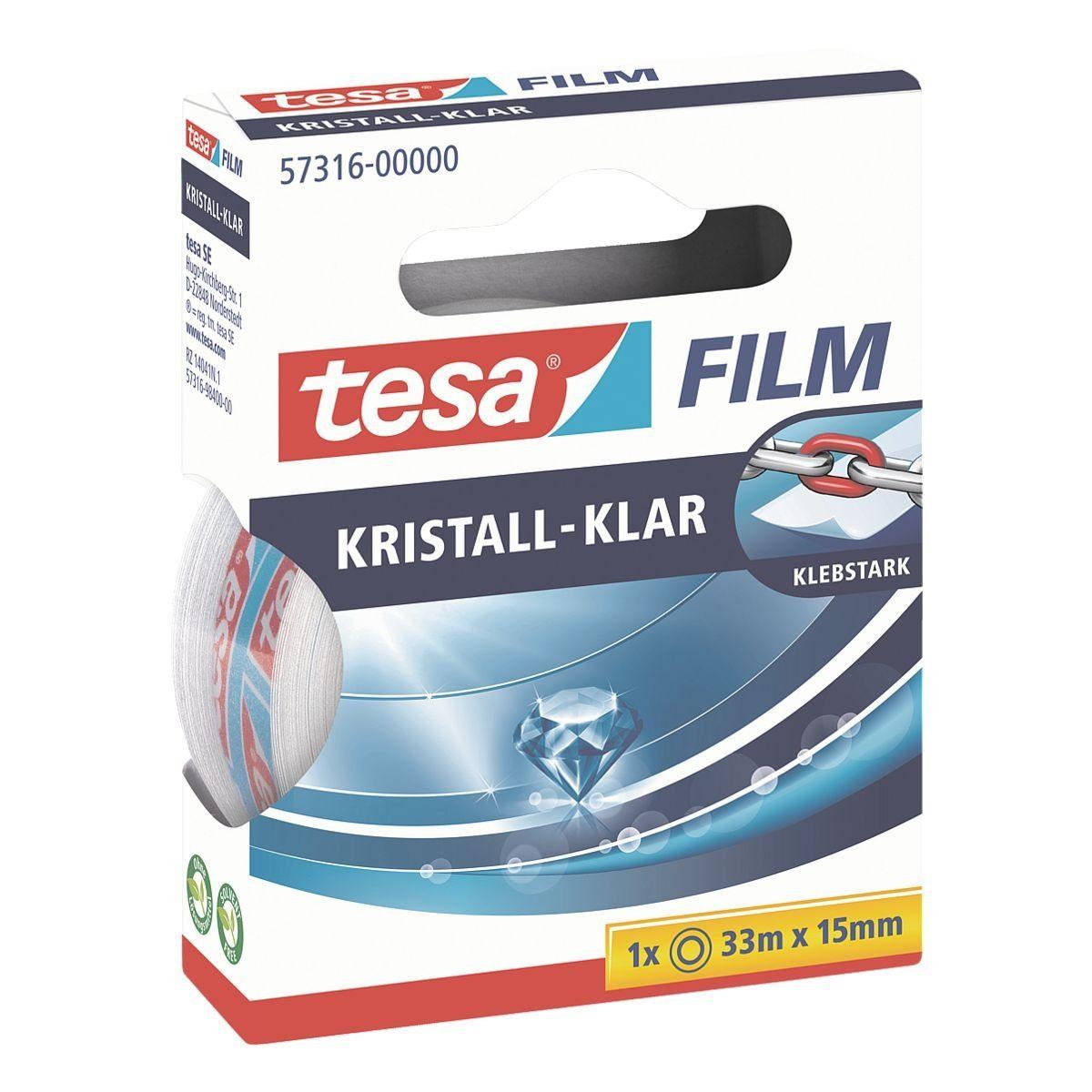 Tesa Klebeband transparent, 15 mm/33 m (B/L) »kristall-klar«
