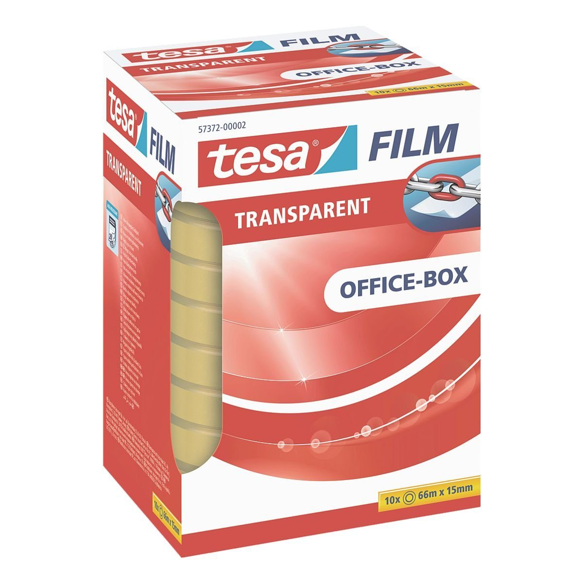 Tesa Klebeband transparent, 15 mm/66 m (B/L) »Office Box«
