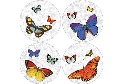 HTI-Line Untersetzer 4-tlg »Schmetterling«