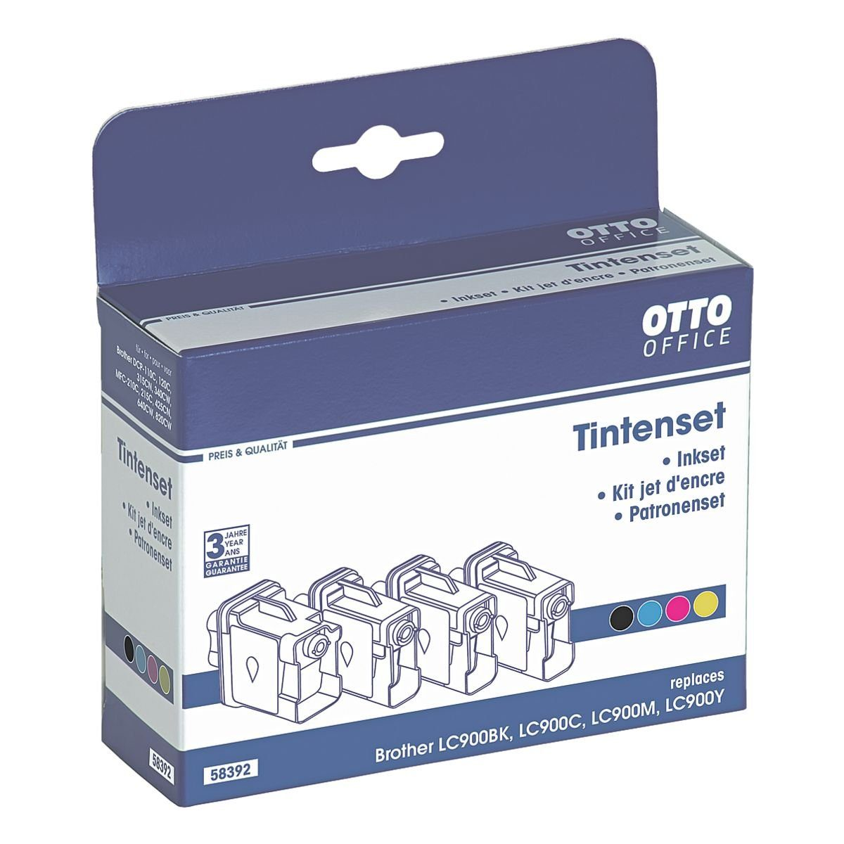 OTTO Office Standard Tintenpatronen-Set ersetzt Brother »LC900«
