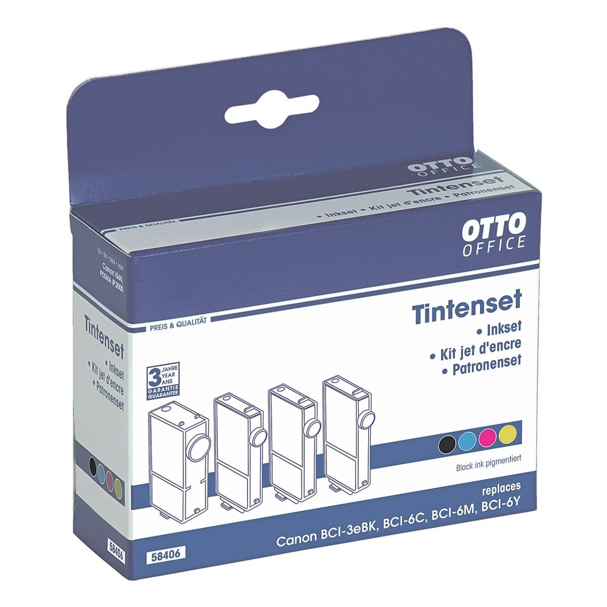 OTTO Office Standard Tintenpatronen-Set ersetzt Canon »BCI-3eBK / BCI-6«
