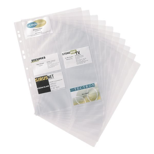 Durable Ersatzhüllen für Visitenkartenmappe mit Ringmechani...