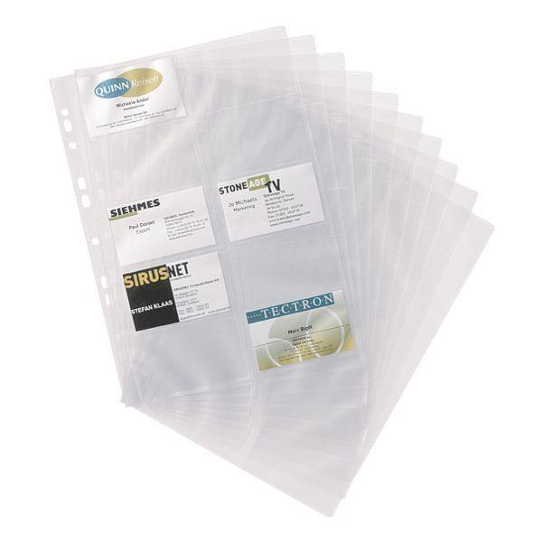 Durable Ersatzhüllen für Visitenkartenmappe mit Ringmechanik »Visifix«