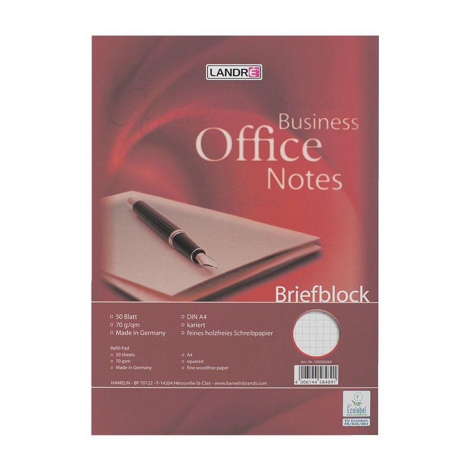 Landré Briefblock »Work«