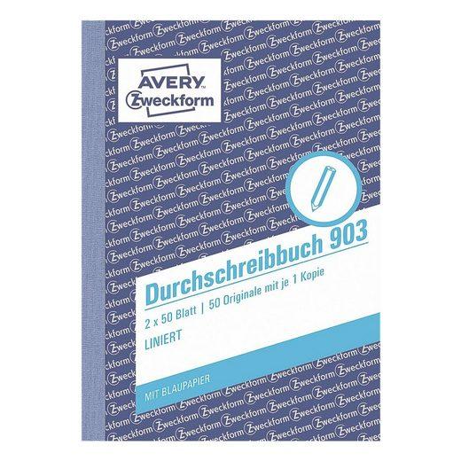 ZWECKFORMAVERY Formularbuch 903 »Durchschreibebuch«