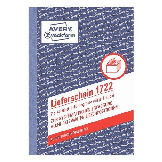 ZWECKFORMAVERY Lieferschein »1722«