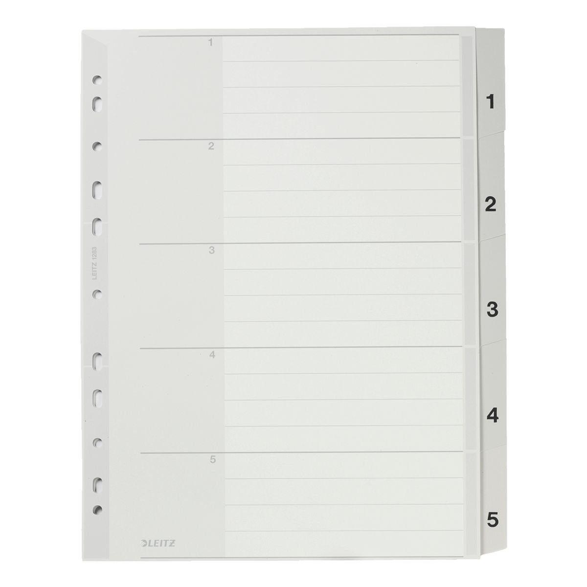 Leitz Kunststoffregister 1-5 A4 Maxi »1283«