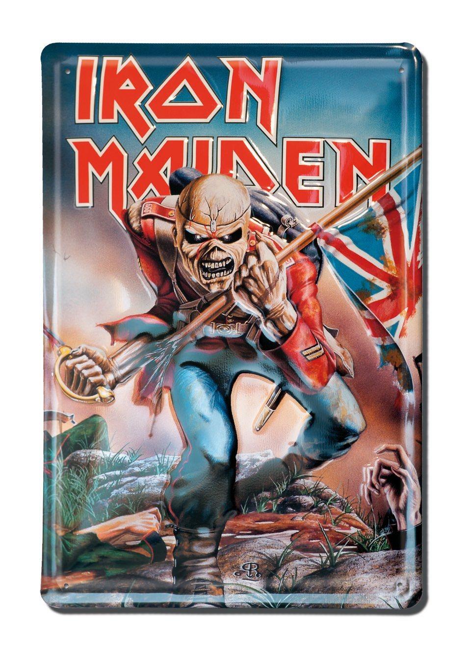 Retro-Blechschild von Iron Maiden