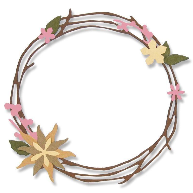 """Sizzix Thinlits Stanzschablone """"Pretty Wreath"""" 13 Motive online kaufen"""