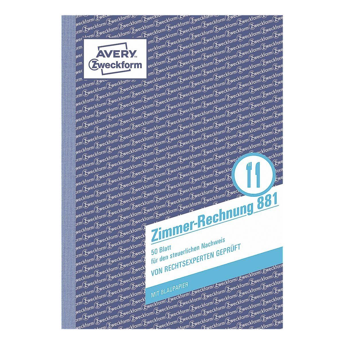 Avery Zweckform Formularbuch »Zimmerrechnung«