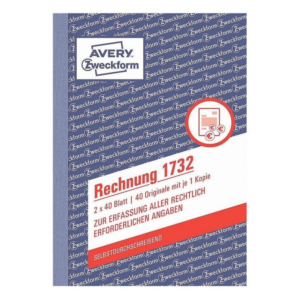 Avery Zweckform Formularbuch »Rechnung«