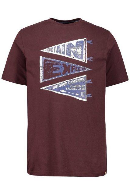 jp1880 -  T-Shirt bis 7XL, T-Shirt mit Flaggen-Motiven im Used-Look, Rundhalsausschnitt, Halbarm, bequeme Passform