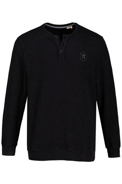 jp1880 -  Hoodie bis 7XL, Langarm-Henley, Shirt, Basic, Knopfleiste, Soft vorgewaschen, reine Baumwolle
