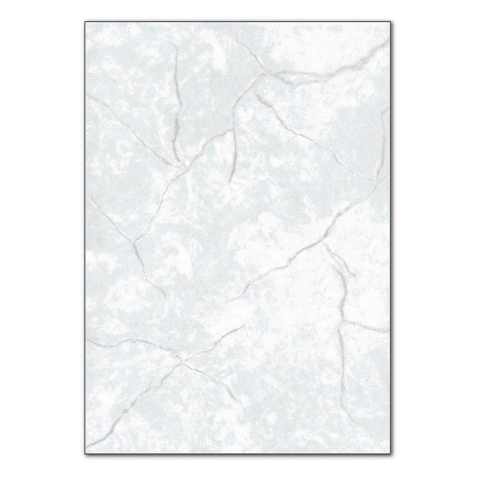 Sigel Granitpapier in grau