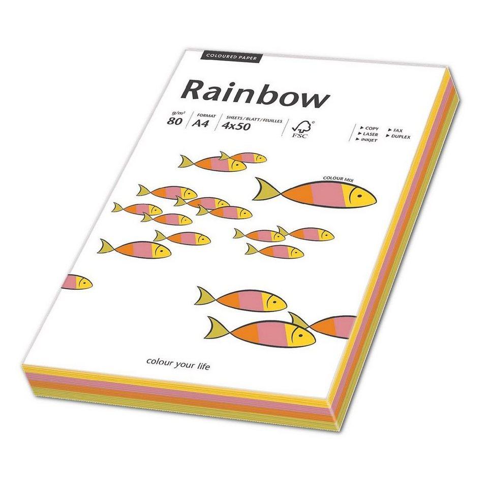 Papyrus Neonfarbiges Papier »Rainbow Neon« Mix