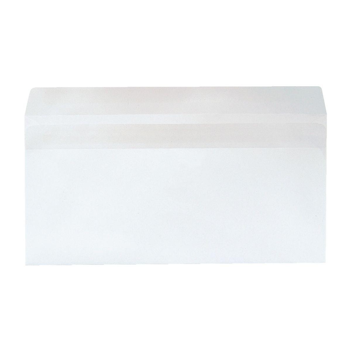 Recycling-Briefumschläge DL ohne Fenster mit Selbstklebung