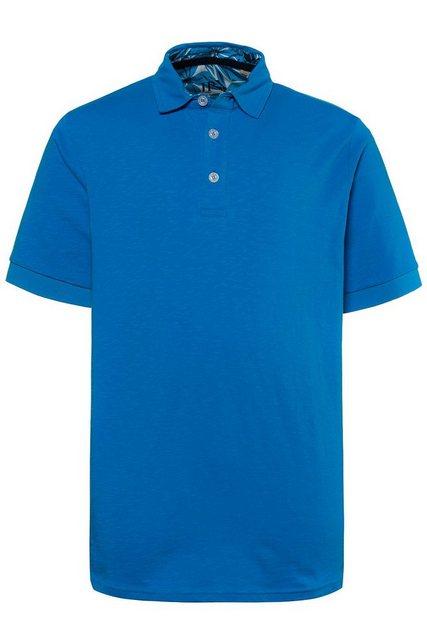 jp1880 -  Poloshirt bis 7XL, Poloshirt, T-Shirt mit Unterkragen in Kontrastfarbe, Seitenschlitze, reine Baumwolle