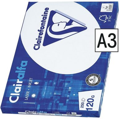 CLAIREFONTAINE Multifunktionales Druckerpapier A3 120g