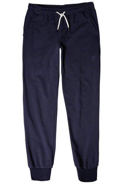 JP1880 Sweathose bis 7XL, Joggpants, Hose mit elastischem Bund und Saum, 2 Eingrifftaschen, Etwas tiefere Leibhöhe | Bekleidung > Hosen > Sweathosen | Blau | JP1880