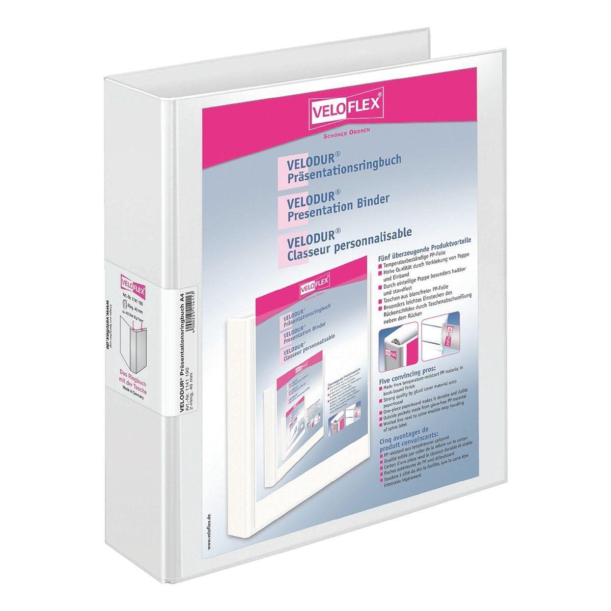 VELOFLEX Präsentationsringbuch (2 Ringe) bis 400 Blatt A4 »VELODUR® 11411«