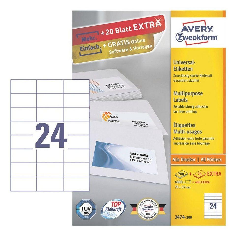 Avery Zweckform 4800er-Pack Universal Klebeetiketten »3474-200«