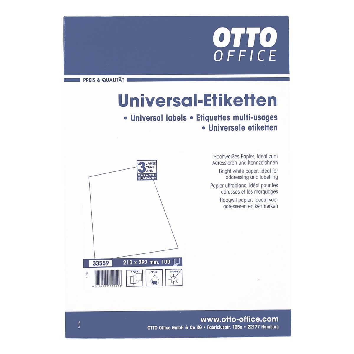 OTTO Office Standard 100er-Pack Universal Klebeetiketten