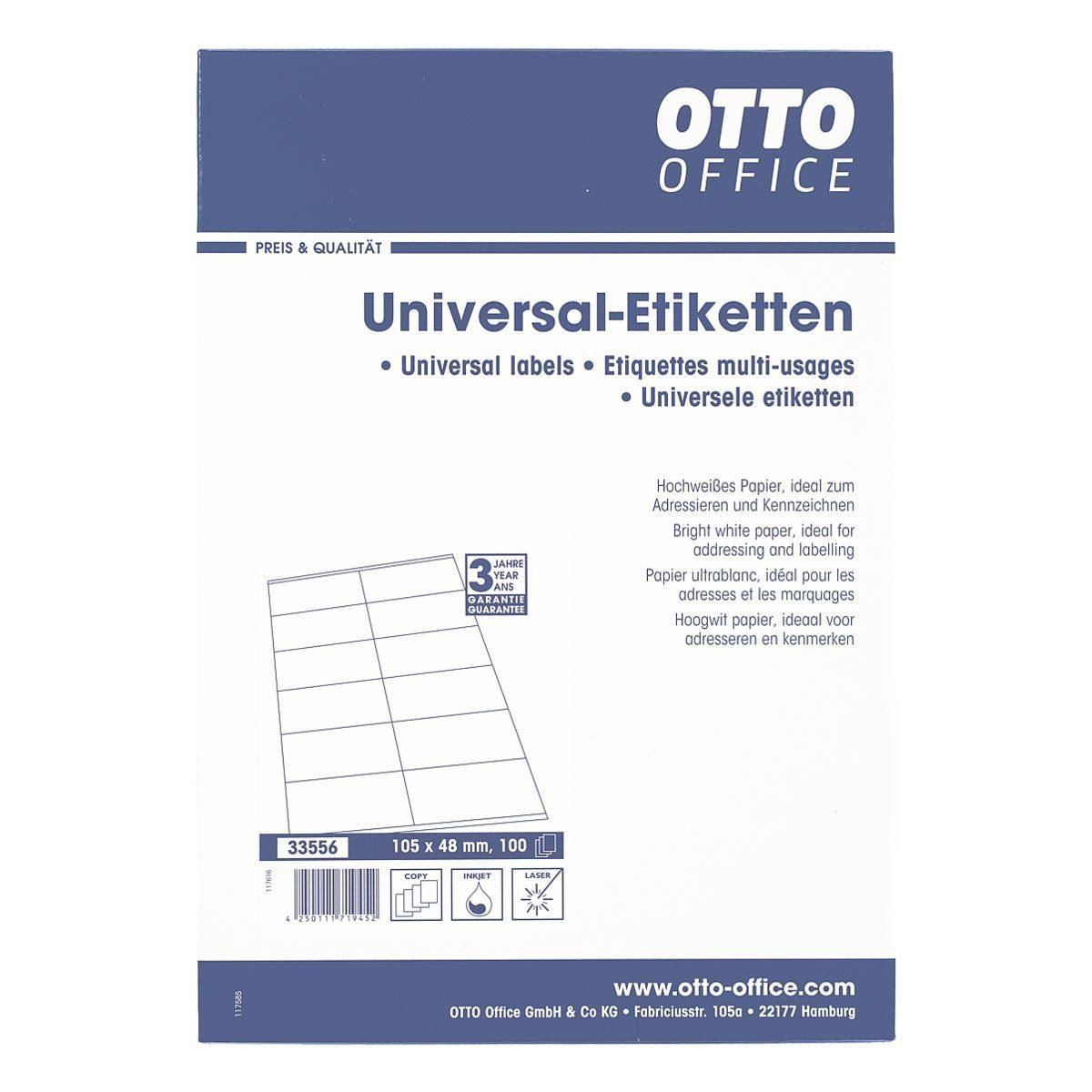 OTTO Office Standard 1200er-Pack Universal Klebeetiketten