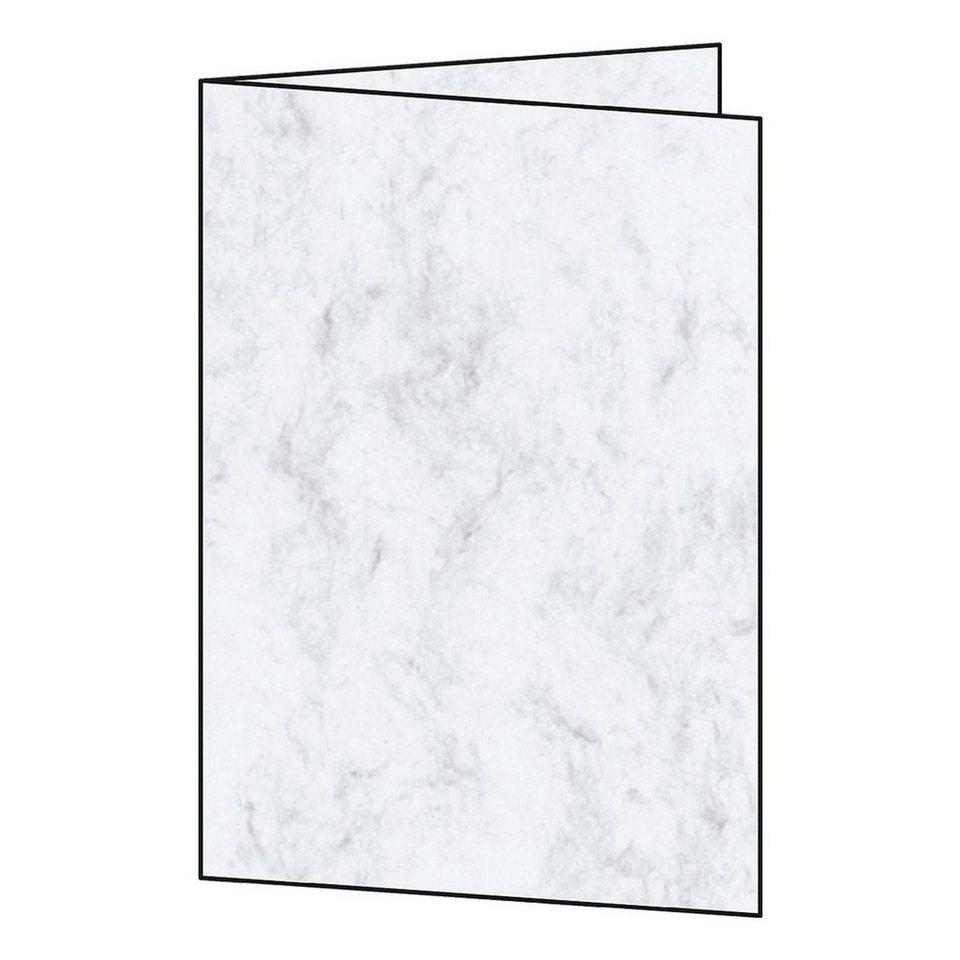 Sigel Blanko-Karten in grau