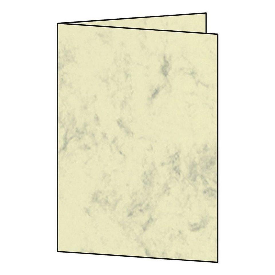 Sigel Blanko-Karten in beige