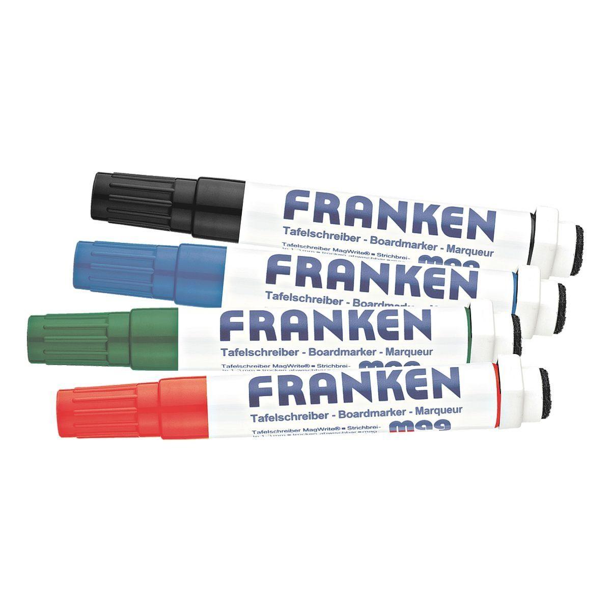 Franken 4er-Pack Whiteboard-Marker »KombiMarker«