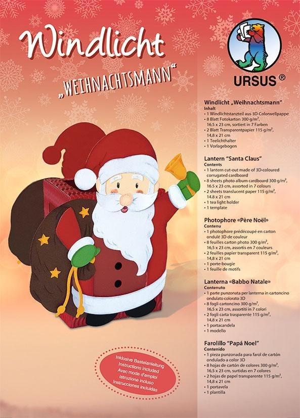 """URSUS Windlicht """"Weihnachtsmann"""" inklusive Anleitung online kaufen"""