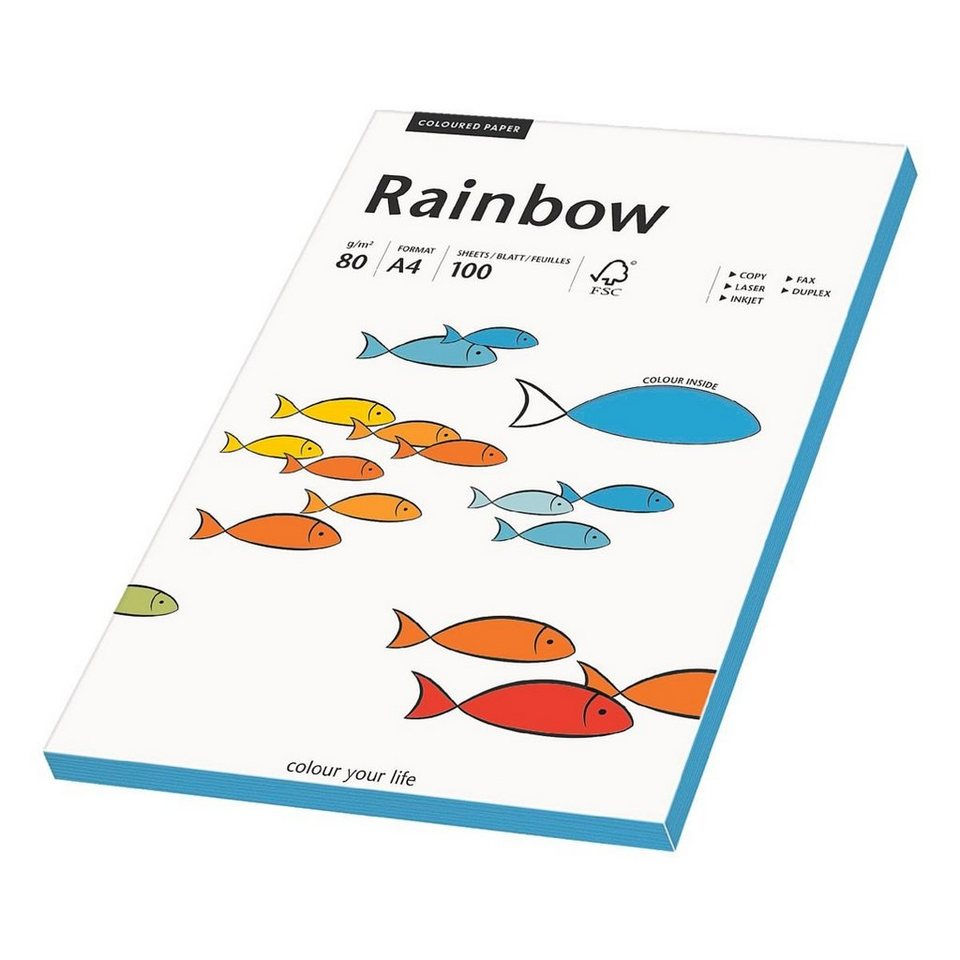 Papyrus Farbige Papiere »Rainbow« in intensivblau