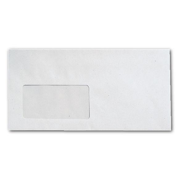 Recycling-Briefumschläge DL mit Fenster und Selbstklebung