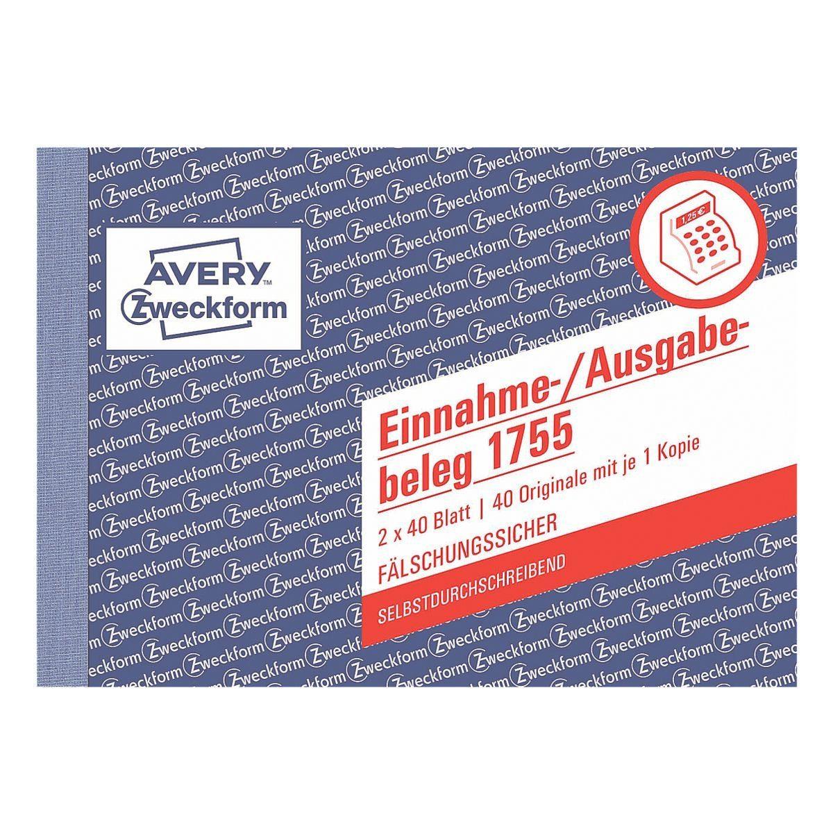 Avery Zweckform Formularbuch »Einnahme-/Ausgabebeleg mit Dokumentendruck«