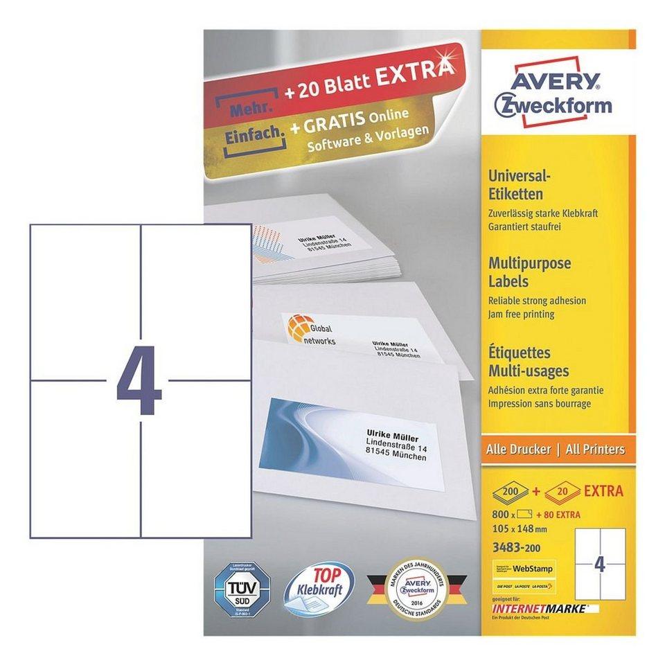 Avery Zweckform 800er-Pack Universal Klebeetiketten »3483-200«