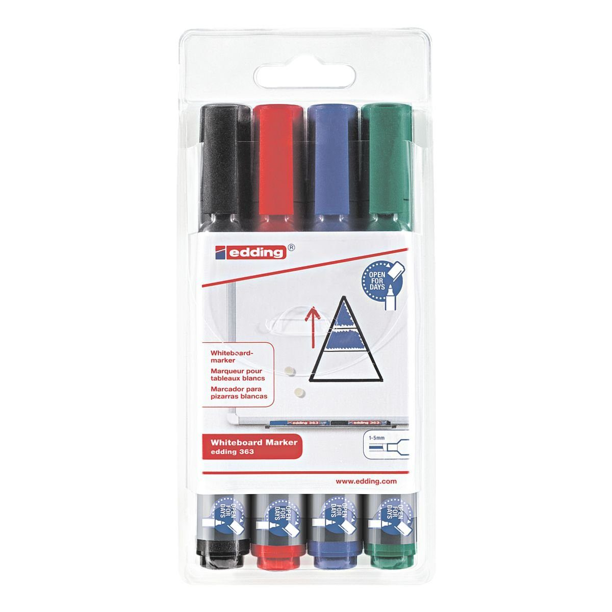 edding 4er-Pack Whiteboard-Marker »363«