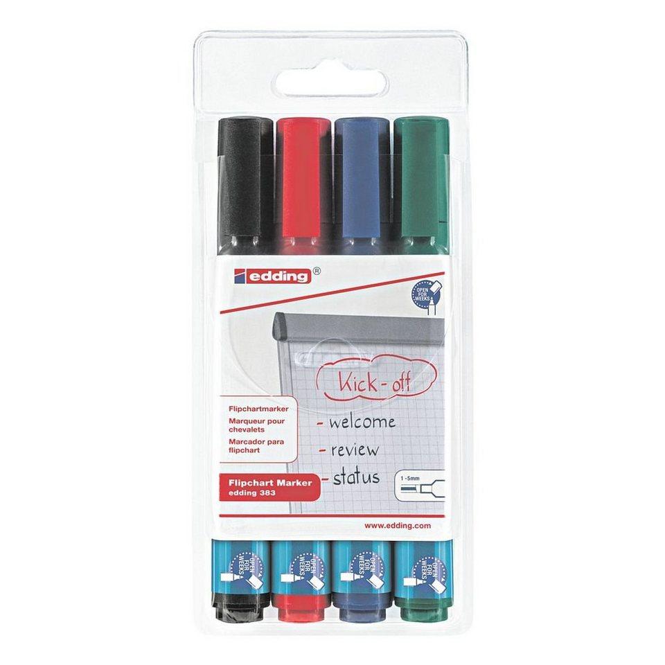 edding 4er-Pack Flipchart Marker »383«