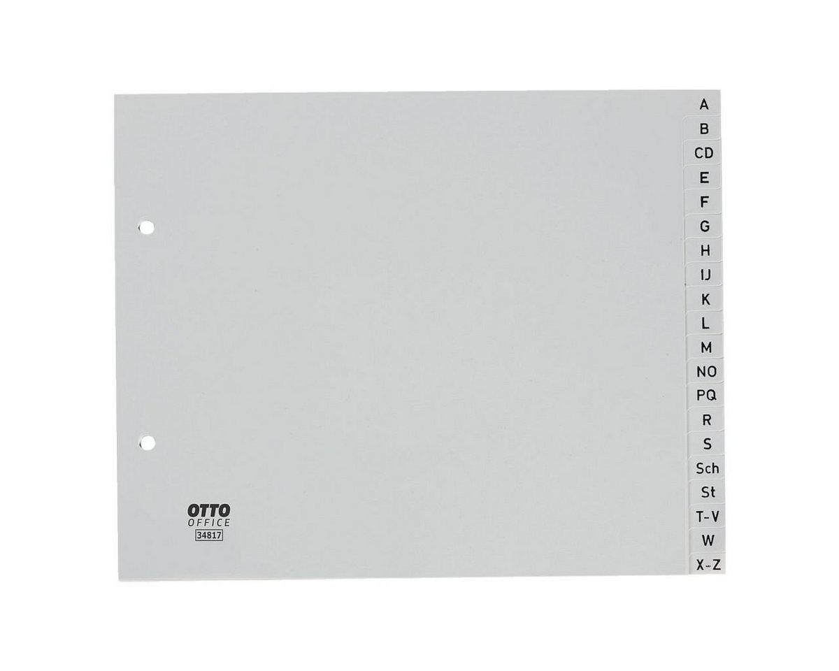 OTTOOFFICE STANDARD Kunststoffregister A-Z halb A4 grau