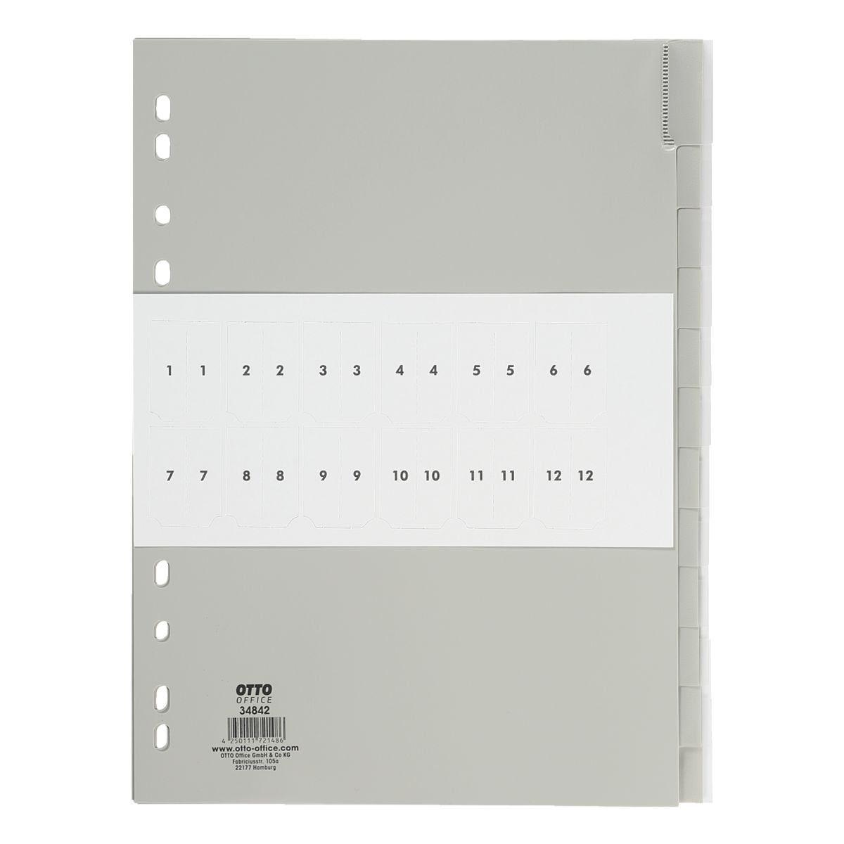 OTTO Office Standard Kunststoffregister 12-tlg.