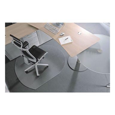 RSOFFICE Bodenschutzmatte 120x150 cm, Rechteck mit gerundeten Seiten... »Rollt & Schützt«