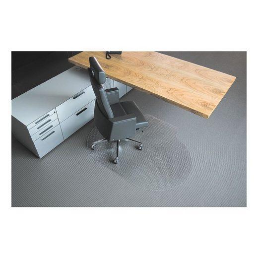 RSOFFICE Bodenschutzmatte 120x150 cm, Oval mit Lippe, für mittelflorigen »Rollt & Schützt«