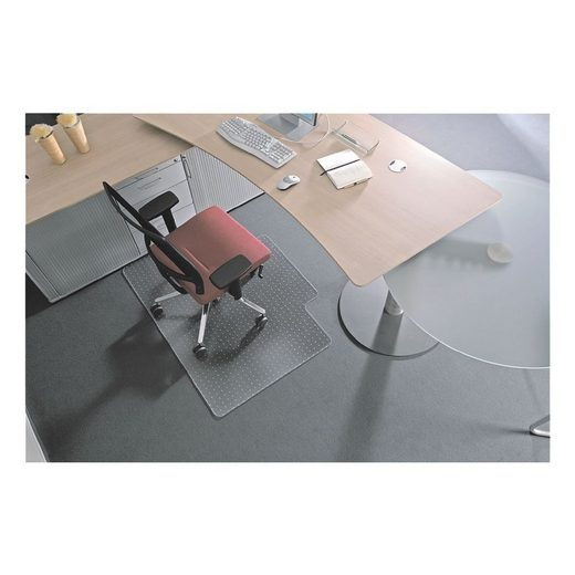 RSOFFICE Bodenschutzmatte 120x150 cm, Rechteck mit Lippe, für mittelflor »Rollt & Schützt«