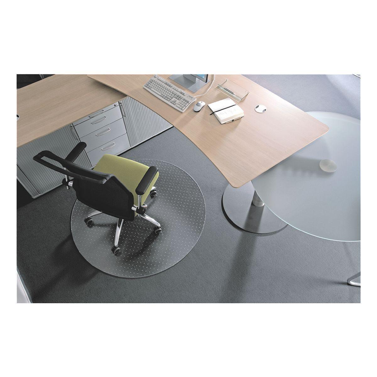 RS Office Products Bodenschutzmatte Ø 90 cm rund für mittelflorigen ... »Rollt & Schützt«