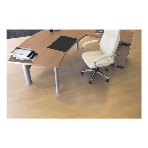 RSOFFICE Bodenschutzmatte 120x150 cm, Rechteck mit Lippe, für Hartboden »Rollt & Schützt«