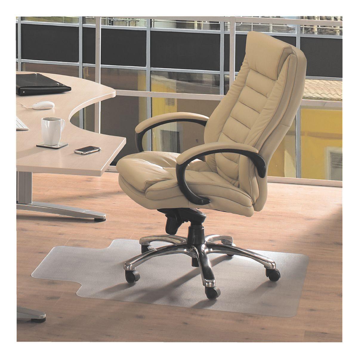 Floortex Bodenschutzmatte 120x90 cm Form L für Hartboden