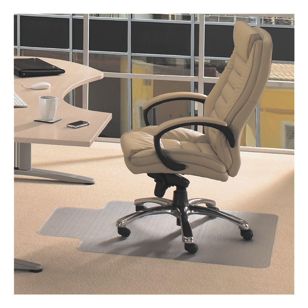Floortex Bodenschutzmatte 120x90 cm Form L für niederflorigen Tep...